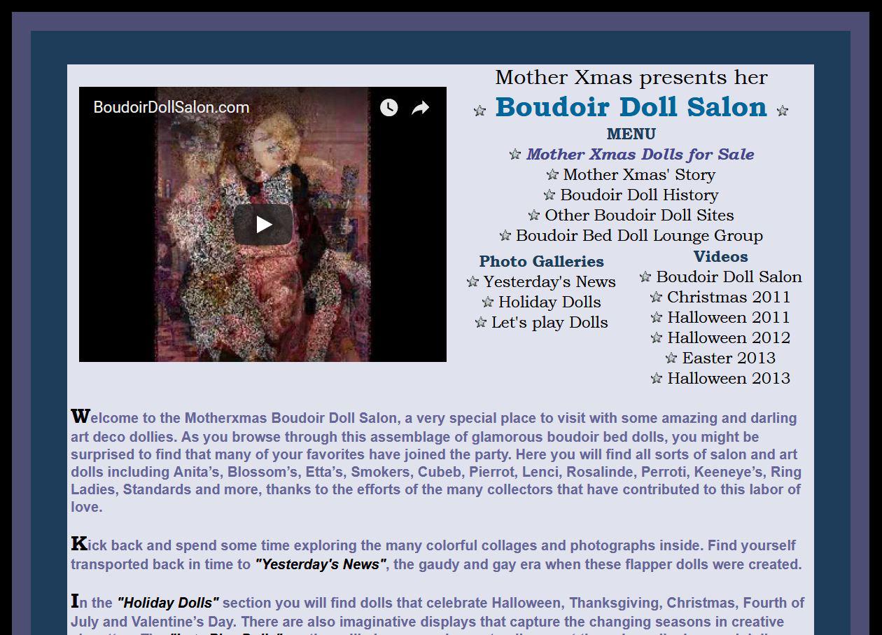 история будуарных кукол