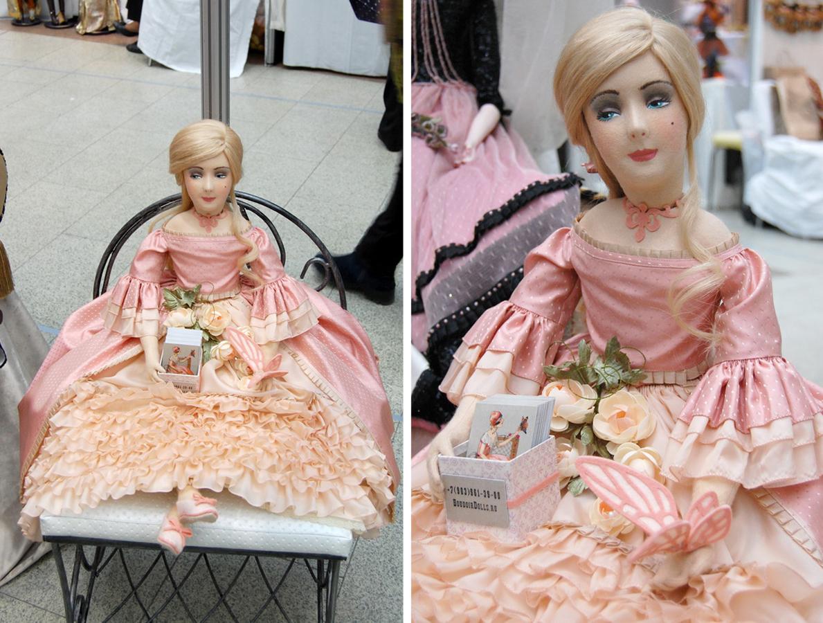 фотография красивой фетровой будуарной куклы
