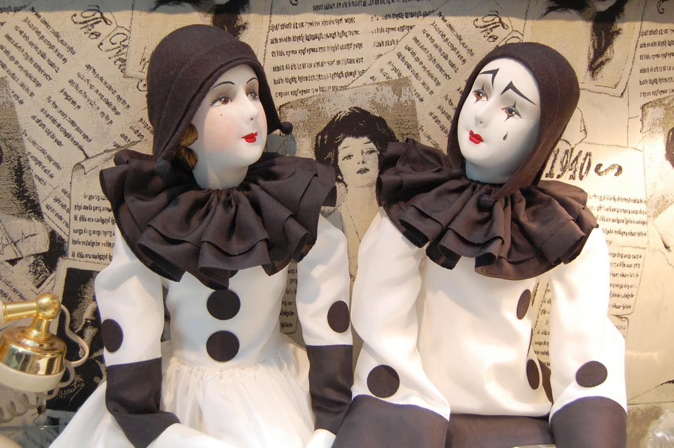 красивые авторские куклы пьеро и пьеретта