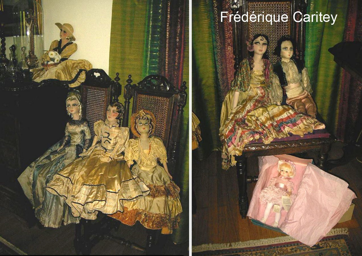 фотография будуарных кукол Frédérique Caritеy