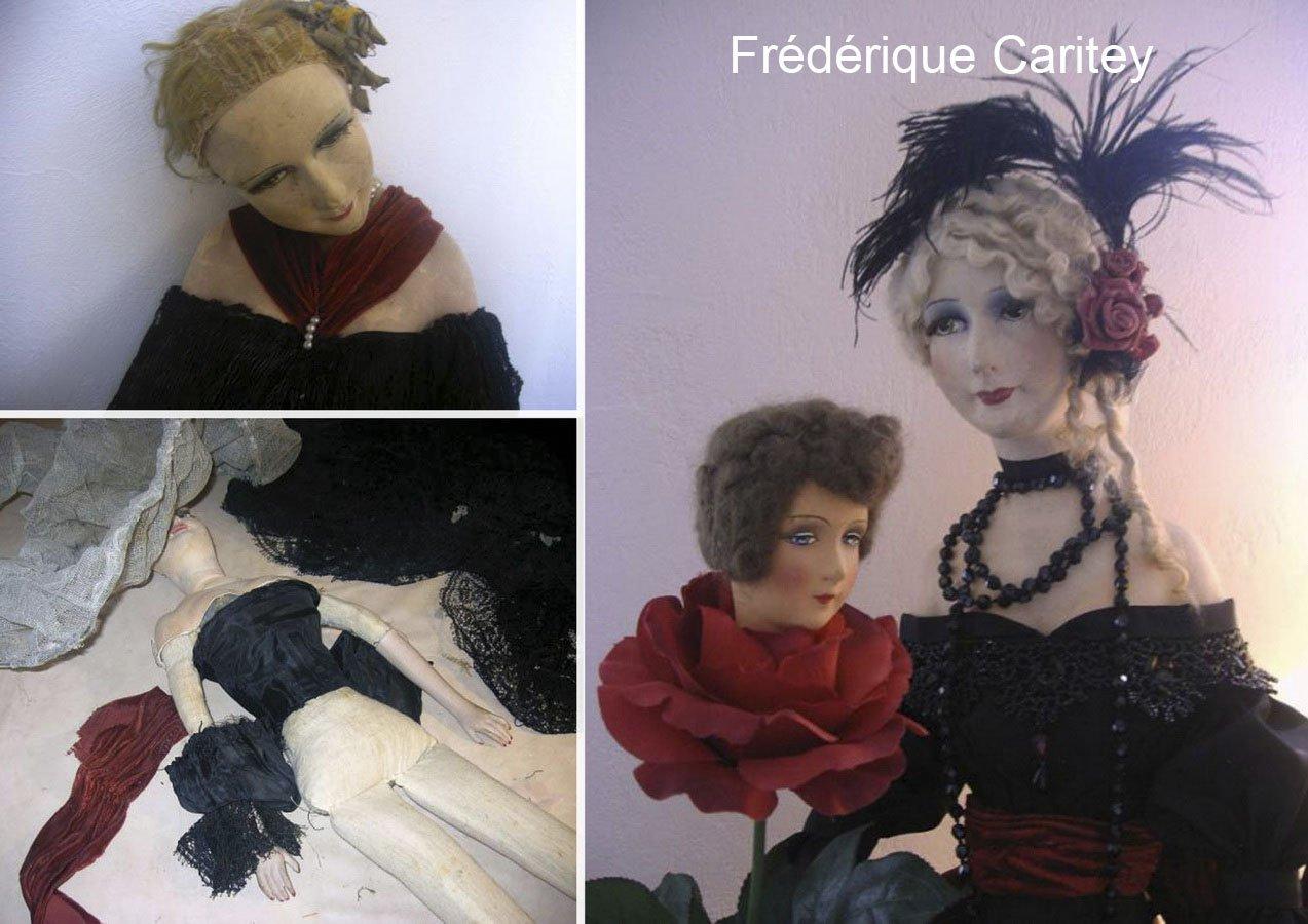 старая антикварная будуарная кукла до восстановления и после